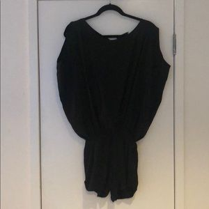NYC Boutique Other - Black Silk Open-Back Romper